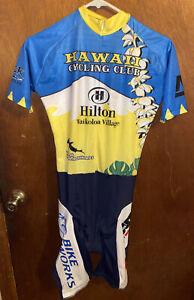 Hawaii Hilton waikoloa Trisuit Mens Triathlon suit size S Small Road bike suit