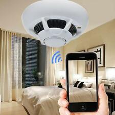 UFO Style IP Spy Camera Wifi Wireless Cam Smoke Detector Hidden Mini Camcorder