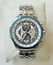 Casio Edifice Mens Blue Steel Chronograph Watch EF-558D-7AVDF -BRAND NEW & BOXED