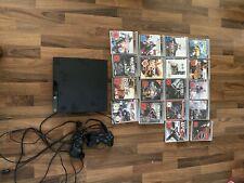 Playstation 3 mit defekten Controllern und 18 Spielen