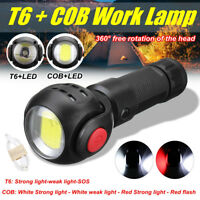 Rechargeable T6+COB LED Work Light Magnetic Torch Flashlight