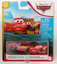 DISNEY PIXAR CARS LIGHTNING MCQUEEN WITH SIGN FUNNY FLASHBACKS 2020 IMPERFECT PK