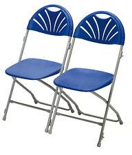 2x slla plegable, Silla de jardín Bistro Banquete Juego Campamento Azul