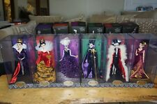 Disney Designer Villains Dolls Collection of 6 LIMITED EDITION NEW
