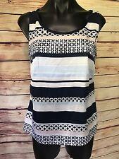 H&M Women's SIze 8 Multi-color Stripe Tank Top Polyester
