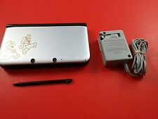 Mario & Luigi Nintendo 3DS XL System Console [w/ Charger & Stylet, Silver]Tested