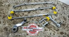 Chrome Steering Linkage YELLOW Kit 58-64 Impala