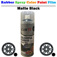 6X Matte Black Car Rubber Spray Color Paint Film Coat Wheel Rim Plasti Dip