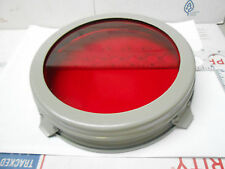 """6417 RED LENS CARLISLE AND FINCH SIGNAL LIGHT FILTER 7"""" SLIP ON  NEW OLD STOCK"""