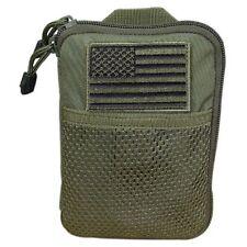 Condor MA16 OD Green MOLLE Modular Pocket Passport Tool Pouch w/ USA Flag Patch