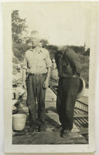 Two Men Faceless Odd Mistake Head Cut Off Out Weird Unusual Old Vernacular Photo