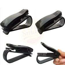 2PCS Car Sun Visor Clip Sunglasses Eyeglass Reading Glasses Card Pen Holder Hold