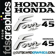 Honda 45hp four stroke outboard engine decals/sticker kit