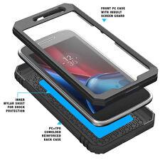 Poetic Revolution Rugged Hybrid Protective Case for Motorola Moto G4 Plus Black