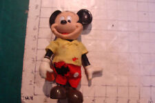 vintage MICKY MOUSE Dakin doll w tag, but needs a bath and has torn clothes