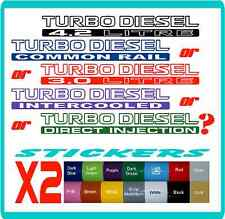 Turbo Diesel stickers Nissan Patrol, Toyota Landcruiser - 16 colours. Cruiser