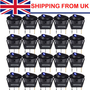 20x Smart Switch 12V LED/Light Round Rocker ON/OFF Switch for Car/Van/Dash/Boat