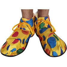 NEW OVERSIZED CLOWN SHOES COVER CIRCUS YELLOW POLKA DOTS FANCY DRESS ACCESSORY