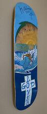 Original Jay Adams Art On Skateboard Deck Signed Of Coco Ho Pro Surfer