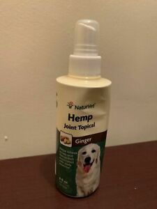 NaturVet Hemp Joint Topical Spray with Ginger for Dogs, 6oz Liquid