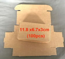 100 x Kraft Paper Gift Boxes DIY Party Candy Jewelry Wedding Wrap Soap Packaging