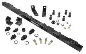 "Raceworks Fuel Rail fits Ford Falcon BA-BF Black Suit 3/4"" Injectors"