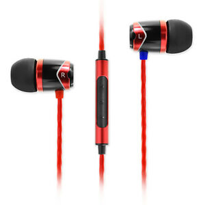 SoundMAGIC E10C In Ear Isolating Earphones with Mic - Black & Red