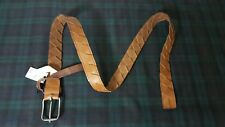 $115 Fullum and Holt  CANADIAN TAN BRAIDED LEATHER MENS SINGLE PRONG BELT :38/95