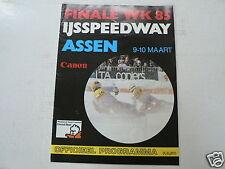 1985 WK IJSSPEEDWAY ASSEN FINALE 9-10 MAART 1985 PROGRAMME MET POSTER RONS LOOKW