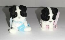 Vintage Calico Critters Border Collie Dog Twin Babies
