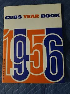 1956 Chicago Cubs Yearbook & Ticket Stub Wrigley Field  Ernie Banks Excellent+