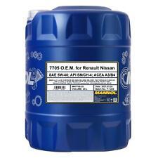 20 (1x20) Liter MANNOL 7705 O.E.M. for Renault Nissan SAE 5W-40 Motoröl