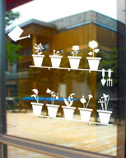 Pot Plants Shop Window Wall Stickers Decal Removable Art Mural Vinyl Sign Decor