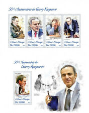 Chess Schach Garry Kasparov Grandmasters Sao Tome and Principe MNH stamp set
