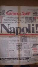 Corriere dello Sport - Napoli trionfa a Stoccarda vince la coppa Uefa 1989
