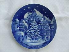Weihnachts-Teller 1980 Wandteller Bavaria Porzellan Miltenberg Kobald Retsch