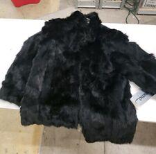 Vintage Somerset Rabbit Black Fur Coat Size Medium