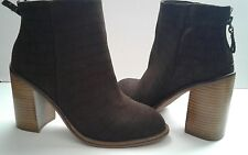 Kelsi Dagger Brooklyn Huron Boots Brown Heels Ankle shoes size 9.5  $160