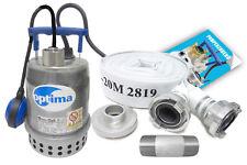Tauchpumpe 230V Schmutzwasserpumpe aus Edelstahl 9,0 m³/h Optima MA + C-Schlauch