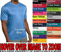 Mens T-Shirt Moisture Wicking Performance Work Out Athletic XS-4X NEW 19 COLORS