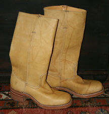 NWOT Frye Campus Boots Size 8M Banana Tan  Leather USA Pull On Up Classic