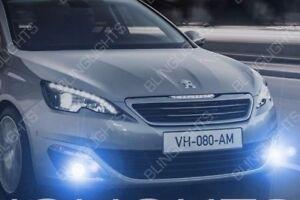 Peugeot 308 Non-Halo Fog Lamps Angel Eye Driving Light Kit + Wiring Harness