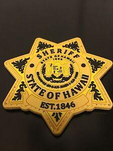 Hawaii Sheriff PVC Morale Patch (yellow)