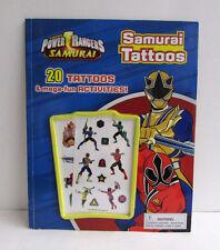 Lot of 6 Saban's Power Rangers Samurai Tattoos & Activity Book NEW