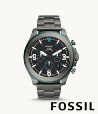Fossil Latitude Chronograph Smoke Stainless Steel Watch FS5753  -New with Tags-