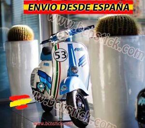 Vinilo Bandera Italiano moto Vespa Piaggio Lambretta