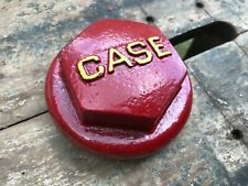 Case Tractor Part Screw On Cap Antique Vintage Metal Red Amp Yellow Part 4384a