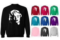 Marilyn Monroe Face Hollywood Movie Icon Unisex Sweater Sweatshirt Jumper NEW