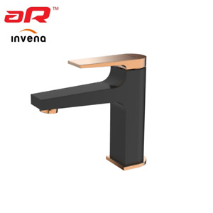 Washbasin Mixer Modern BLACK GOLD ROSE Tap Bathroom Sink Invena MIDNIGHT New