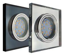 45° Abstrahlung 7W warmweiß GU10 DIMMBAR Glas LED-Einbaustrahler quadratisch